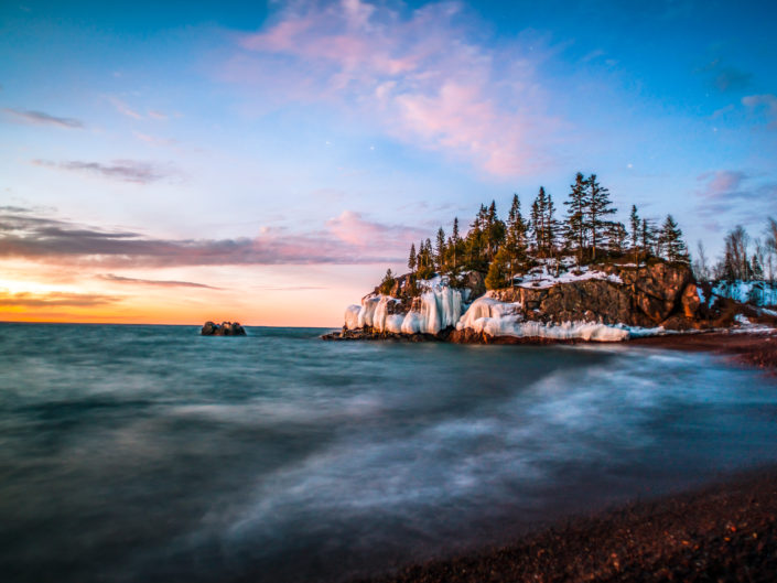 silver bay sunrise