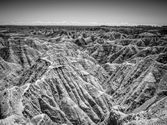 Badlands in Black and White